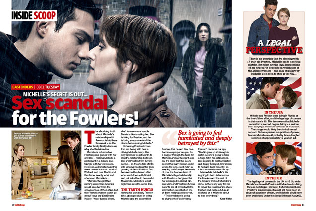 EastEnders: Sex scandal for the Fowlers!