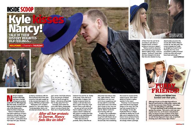 Hollyoaks: Kyle kisses Nancy!