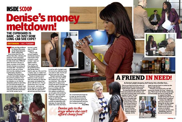 EastEnders: Denise's money meltdown!