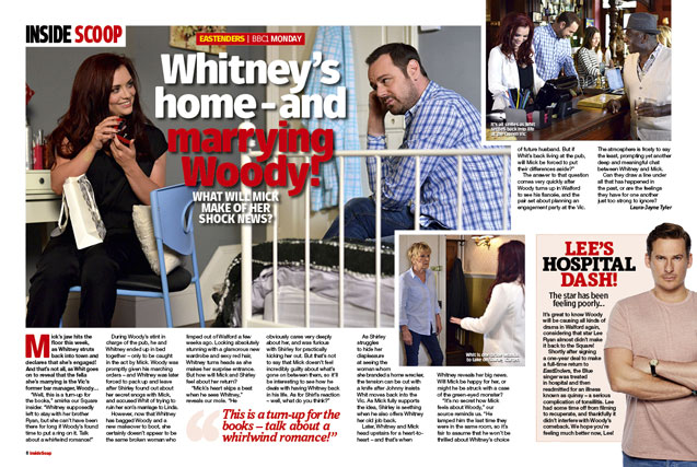 EastEnders: Whitney's home - and marrying Woody!