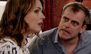 Trouble is brewing at the Rovers in our Corrie clip!