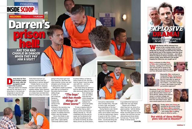 Hollyoaks: Darren's prison hell!