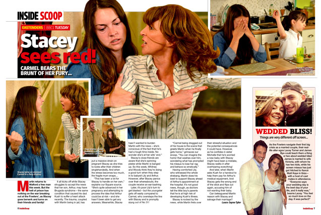 EastEnders: Stacey sees red!