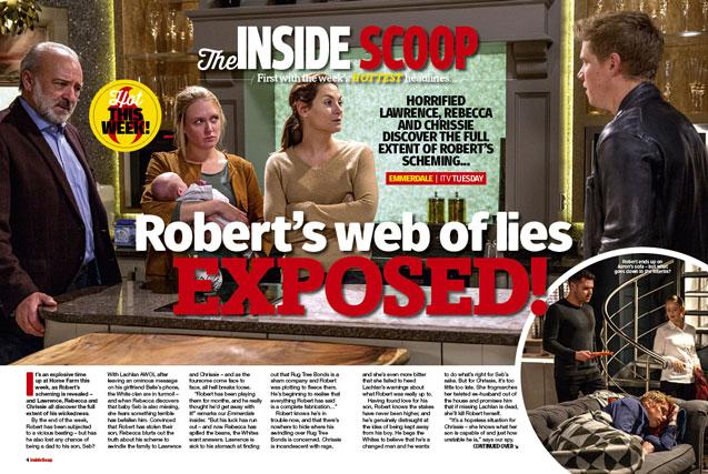 Emmerdale: Robert's web of lies exposed!