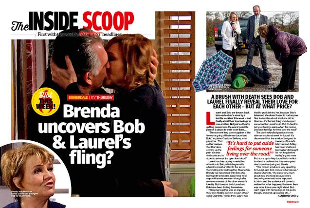 Emmerdale: Brenda uncovers Bob & Laurel's fling?