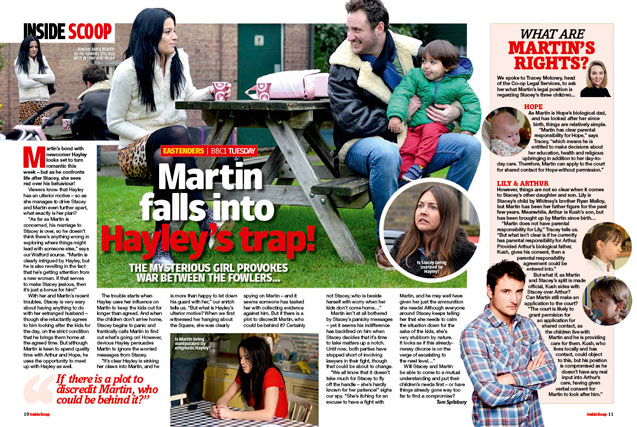 EastEnders: Martin falls into Hayley's trap!
