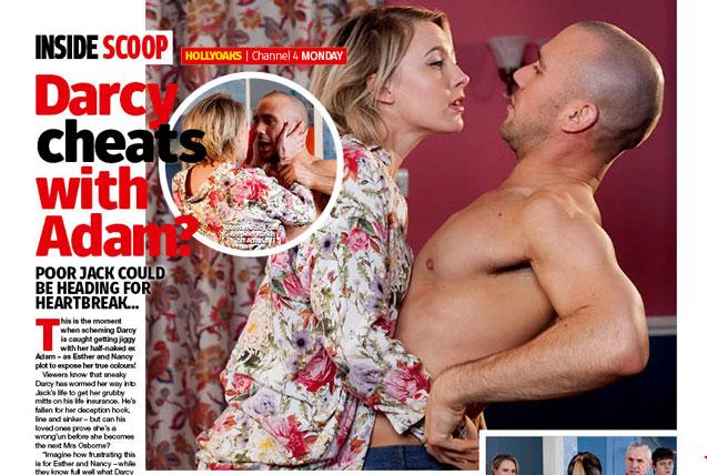 Hollyoaks: Darcy cheats with Adam?