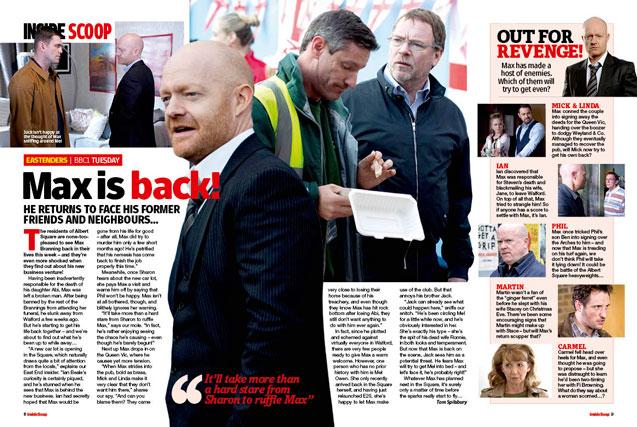 EastEnders: Max is back!